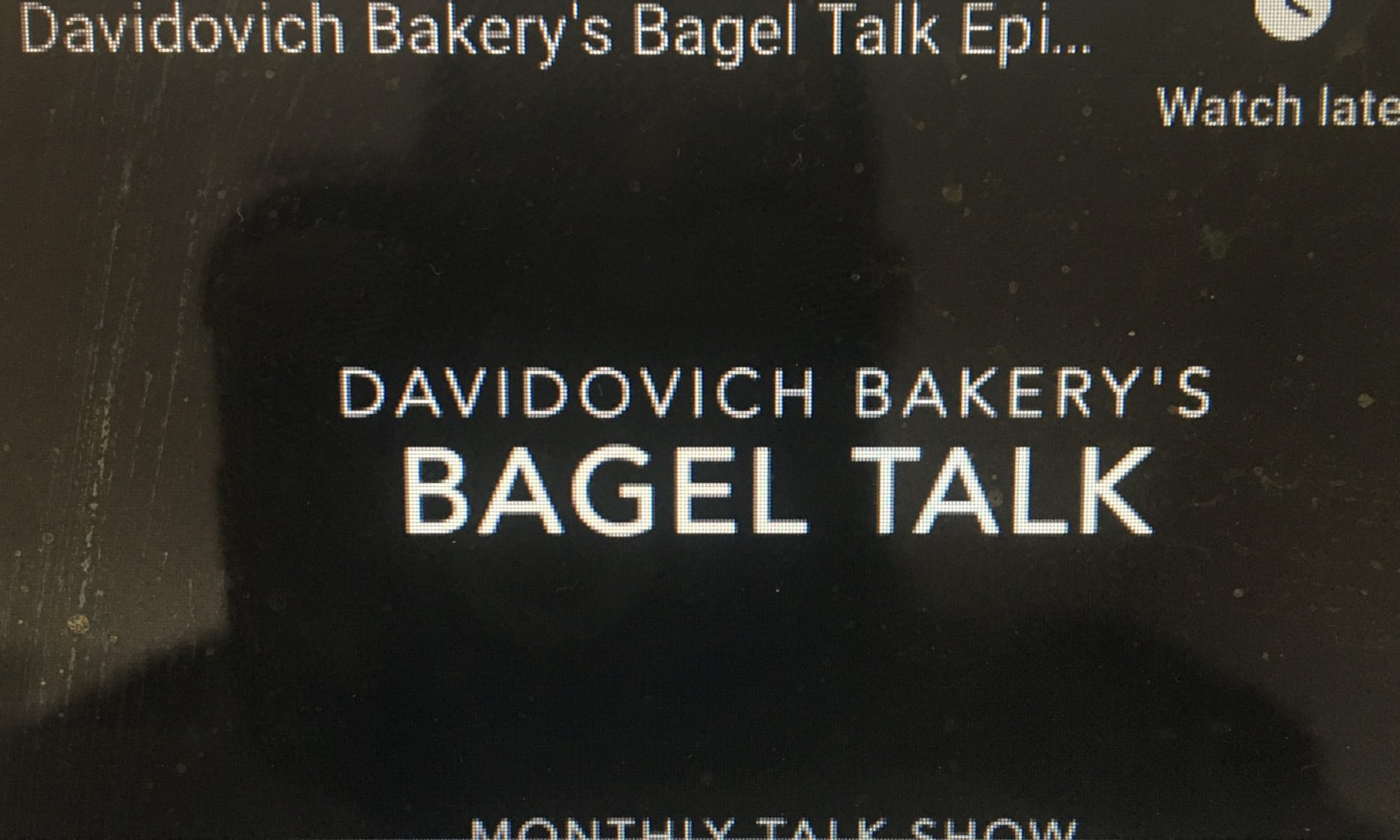 Bagel Talk Episode 9